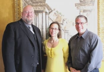 Paul Gourhan, Margaret S. Maclay and Gene Sower of Samson Media