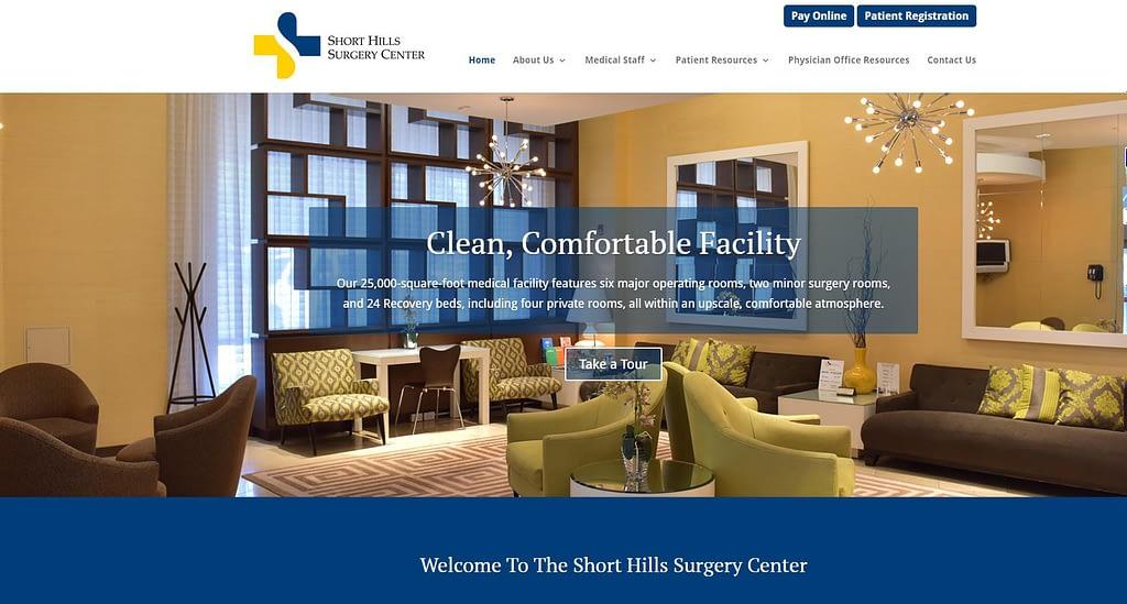 Short Hills site designed by NJ Website designer