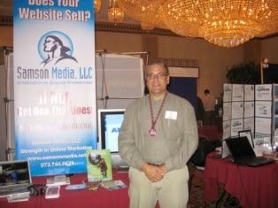 Gene Sower of Samson Media at the BJ Biz Expo trade show.