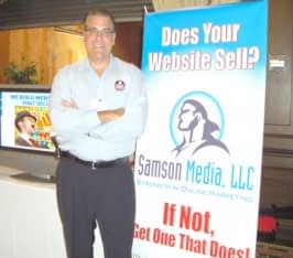 Gene Sower, Samson Media President, at NJ Biz Expo 09