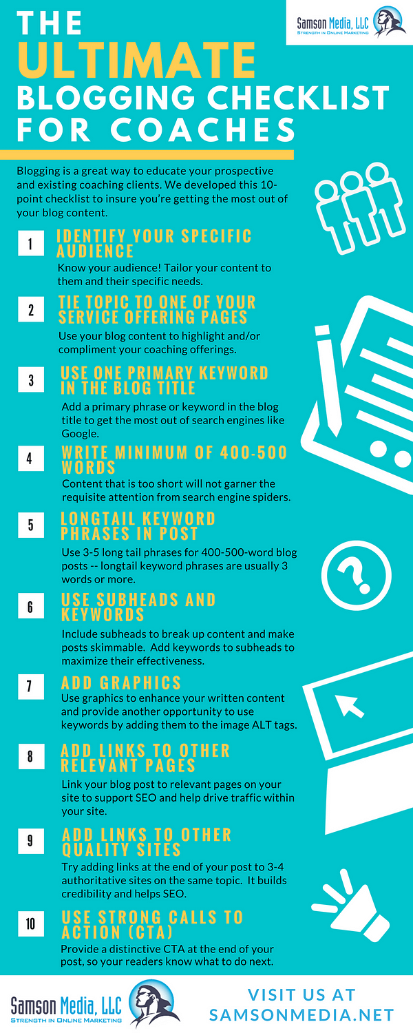 Blogging Tips For Life Coaches Infographic